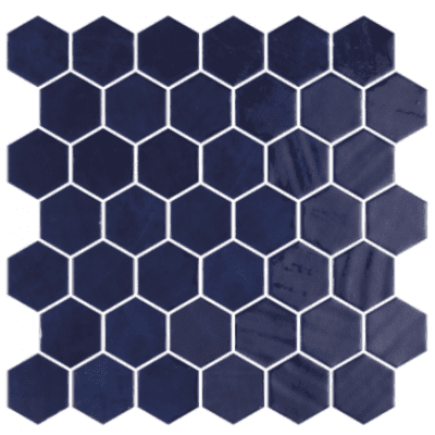 Hexagonal Zelik Blue 6