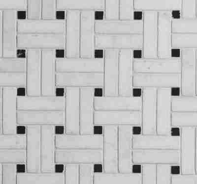 PA – Le Bouscat Island Marble Honed White Basket Weave 1