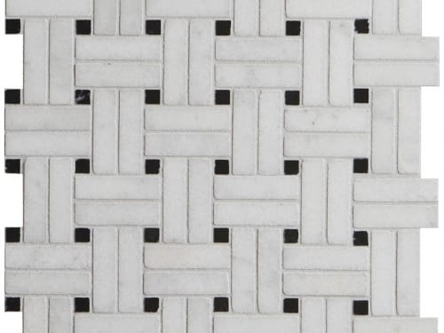 PA – Le Bouscat Island Marble Honed White Basket Weave 7