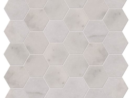 PA – Le Bouscat Island Marble Honed White Hexagon 4