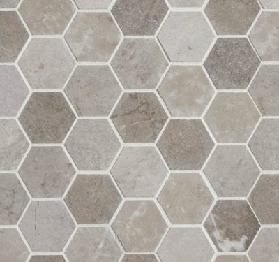 PA – Poitiers Marble Honed Hexagon 1