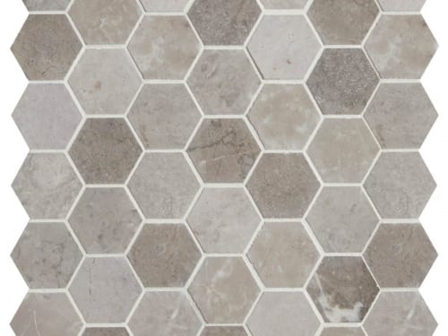 PA – Poitiers Marble Honed Hexagon 9