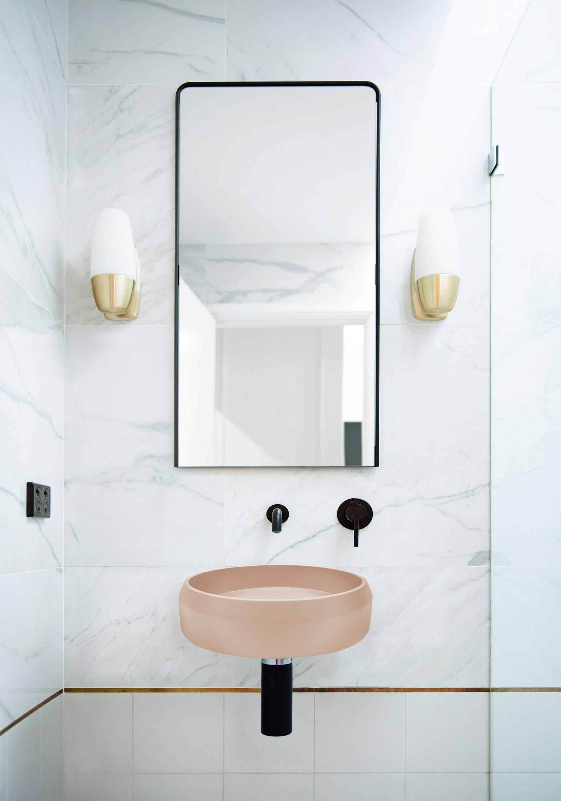 Prism Circle Basin Wall Hung 7
