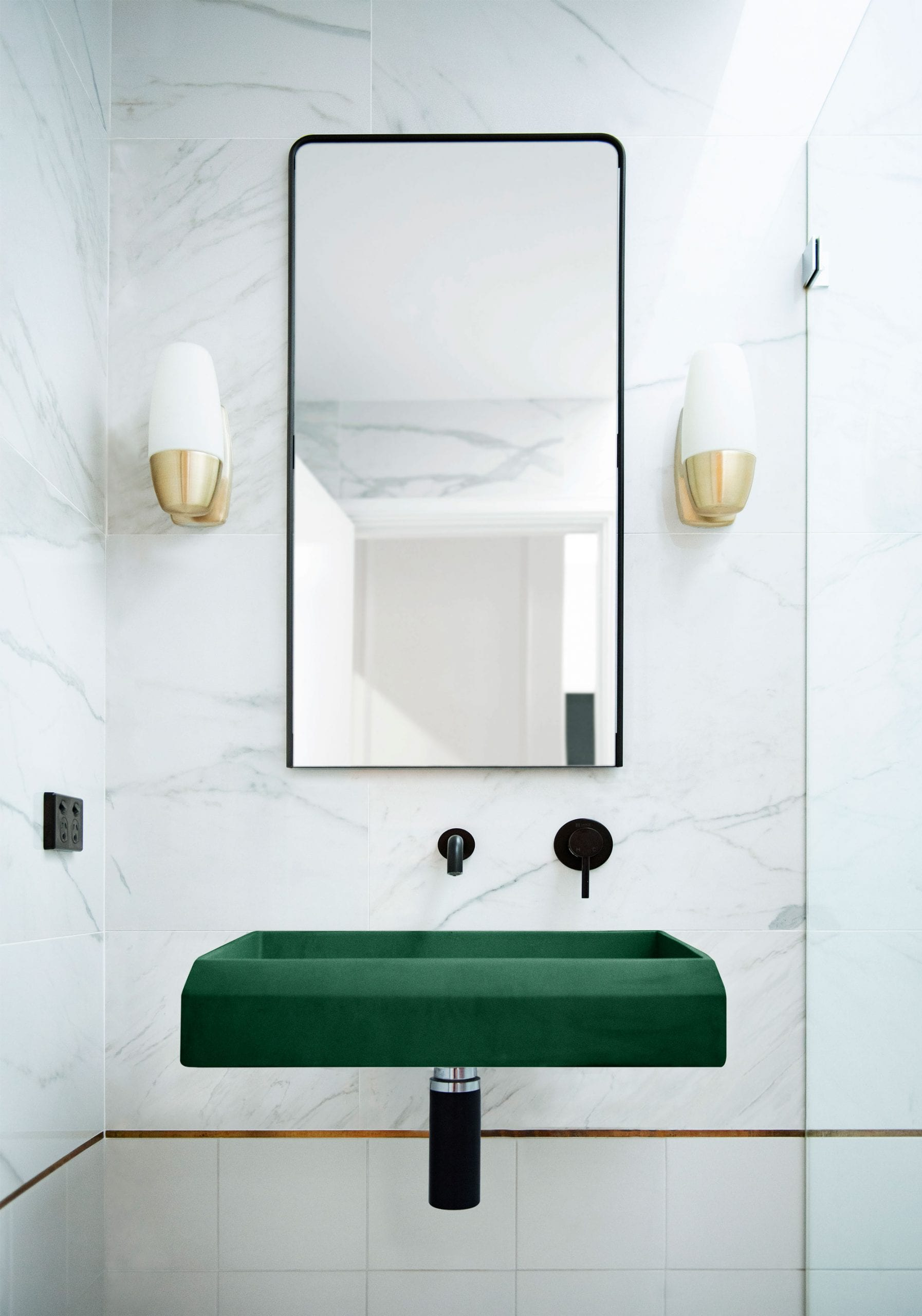 Prism Rectangle Basin Wall Hung 9