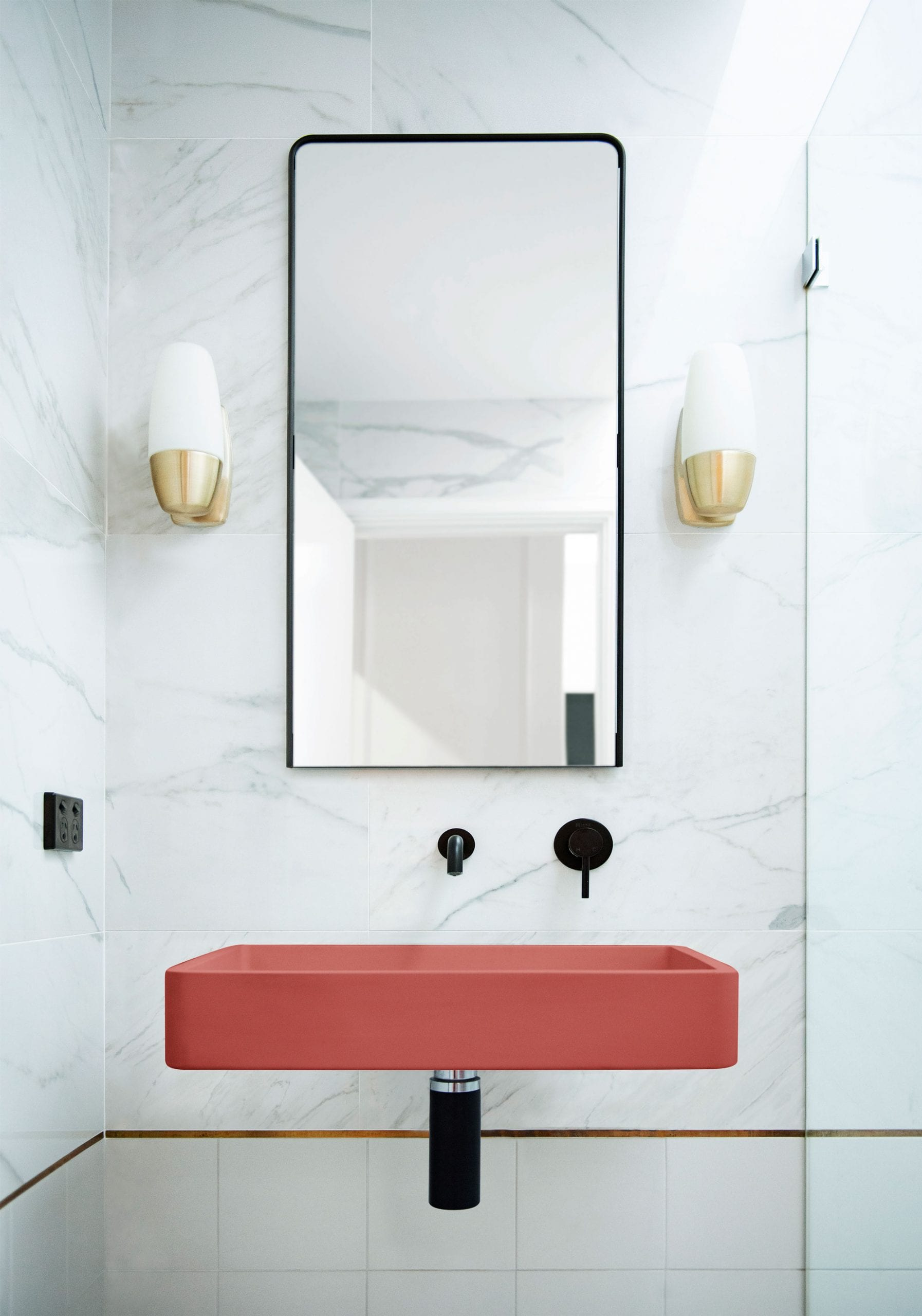 Vesl Rectangle  Basin Wall Hung 9