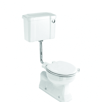 S trap low level WC with 440 front push button cistern 12