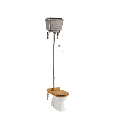 Standard high-level WC with chrome lever cistern 7