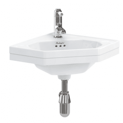 Corner 59.8cm cloakroom basin 12