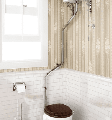 High level pan with high level cistern and high level angled flush pipe kit 3