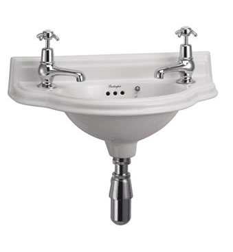Small 50.5cm curved front cloakroom basin 13