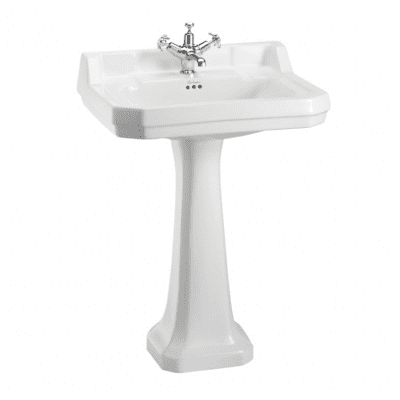 Edwardian 61 cm basin and standard pedestal 6