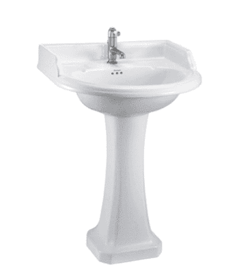 Classic 65cm basin with classic pedestal 8