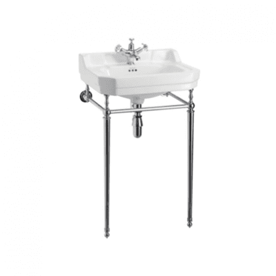 Edwardian 51cm cloackroom basin with basin stand 2