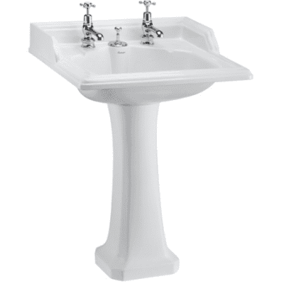 Classic 65cm basin with invisible overflow and classic standard pedestal 15