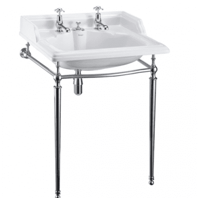 Classic 65cm basin with overflow and basin stand 10