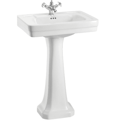 Contemporary basin and standard pedestal 10