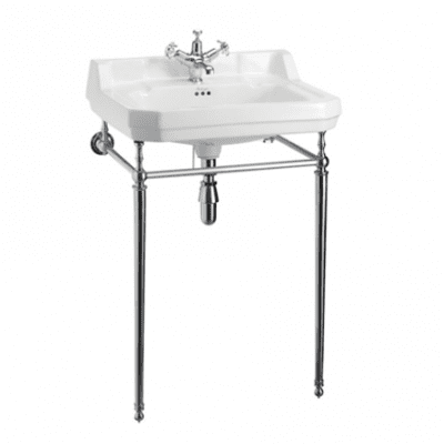 Edwardian 56cm basin and basin stand 6