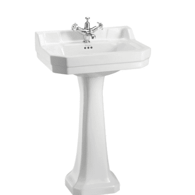 Edwardian 56cm basin with regal pedestal 1