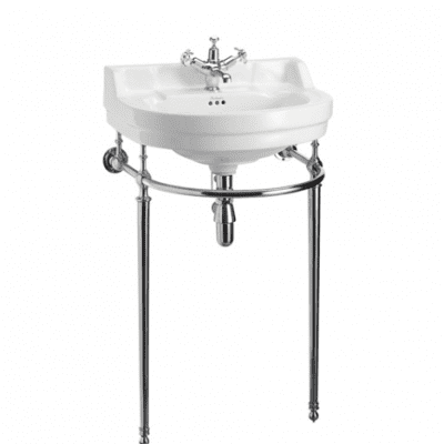 Edwardian 56cm round basin and regal basin stand 3