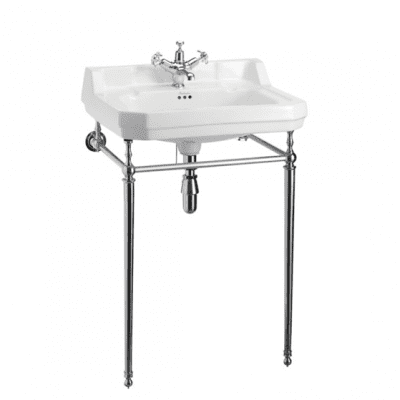 Edwardian 61cm basin with basin stand 13