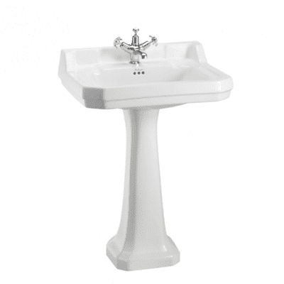 Edwardian 62cm basin with regal pedestal 9