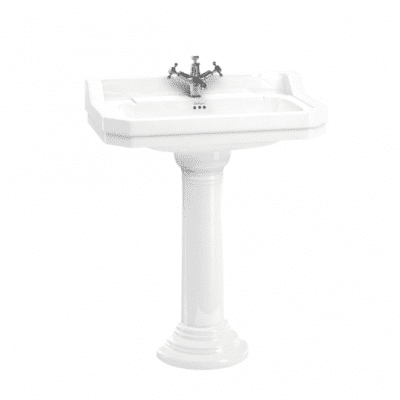 Edwardian 80cm basin with regal round pedestal 8
