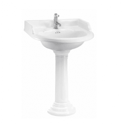Classic 65 basin and regal  round pedestal 1