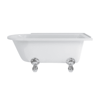 Hampton 150cm right-handed showering bath with luxury feet 1
