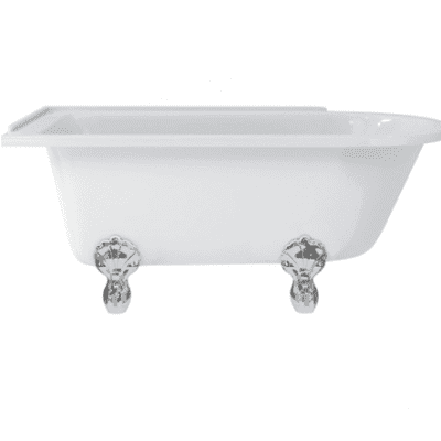 Hampton left-handed showering bath with luxury f 13