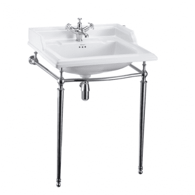 Classic 65cm  basin with basin stand 1
