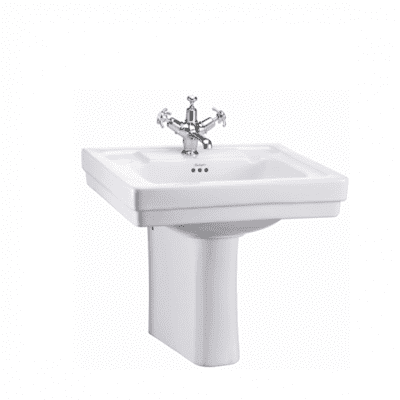 Contemporary basin and semi pedestal 7