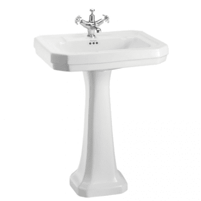 Victorian 61cm basin with regal pedestal 8