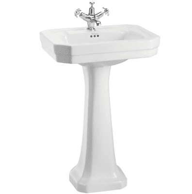 Victorian 56cm basin and standard pedestal 7