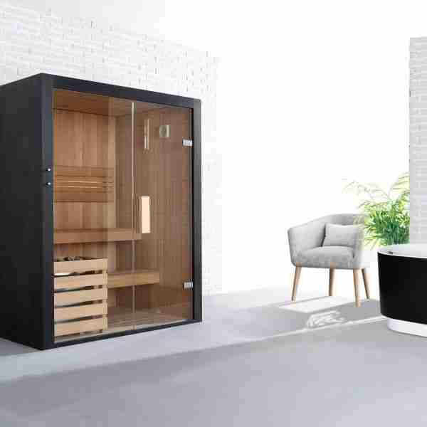 Black Pearl 3 Person Sauna (160cm) 5