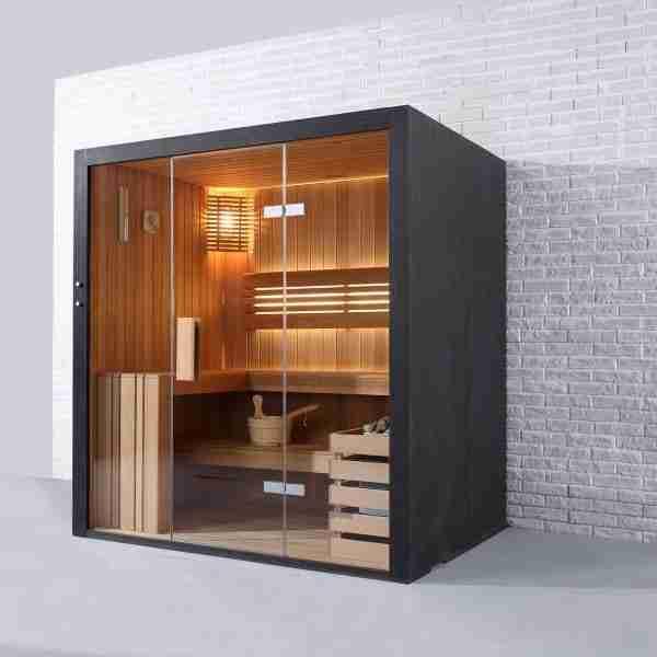 Black Pearl 4 Person Sauna (180cm) 1