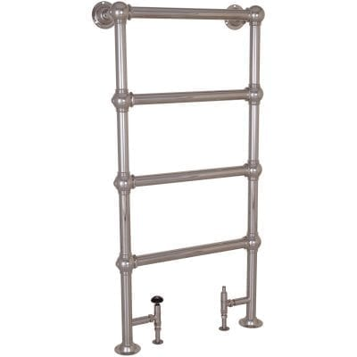 Colossus Steel Towel Rail Nickel - 1300mm x 650mm 11