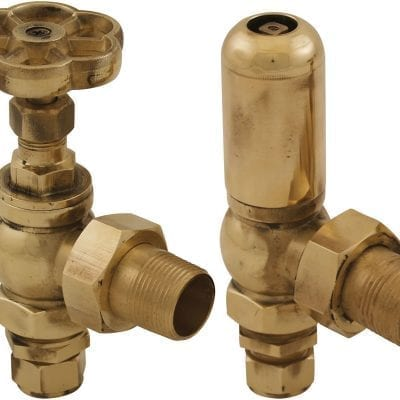 Daisy Wheel 15mm Inlet Manual Radiator Valve (Brass) 2