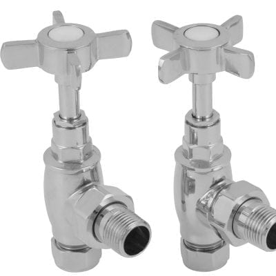 Towel Rail 15mm Inlet Manual Radiator Valve (Chrome) 4