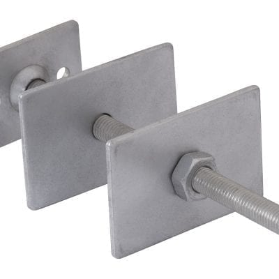 Wall Stay - Square Plate - Galvanised 7