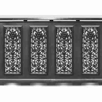 Cast Iron 4 Panel Radiator Cover 2