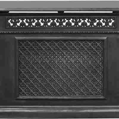 1 Panel Radiator Cover - Black 1