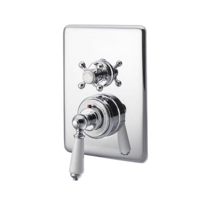 Concealed Dual Control Thermostatic Valve - 1 Outlet, Chrome 10