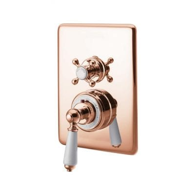 Concealed Dual Control Thermostatic Valve - 1 Outlet, Copper 4