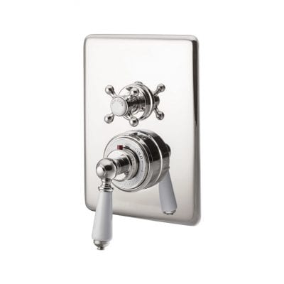 Concealed Dual Control Thermostatic Valve - 1 Outlet, Nickel 10