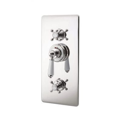Concealed Thermostatic Valve With Integral Flow Valves Nickel 12