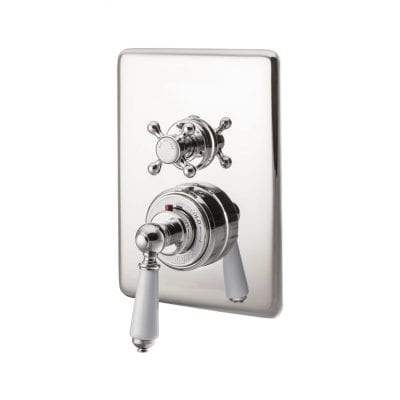 Concealed Dual Control Thermostatic Valve - 2 Outlets, Nickel 3