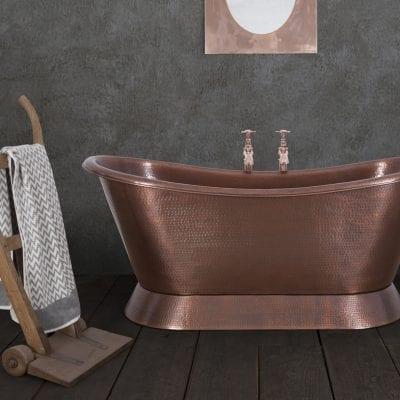 Bateau - Hammered Copper Bath 6