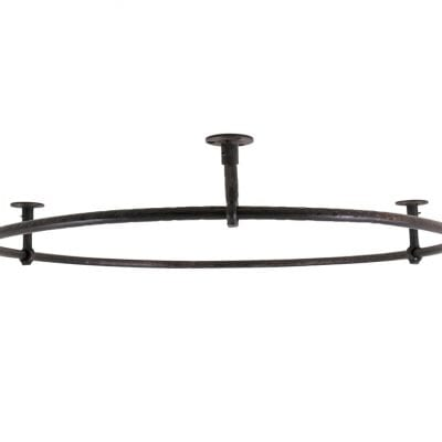Large Round Wrought Iron Shower Rail 3