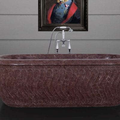 Tivoli Chocolate Marble Bath 6