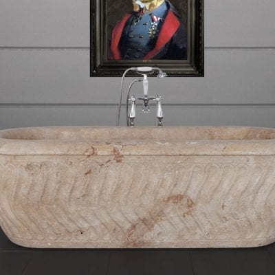 Tivoli Travertine Marble Bath 11